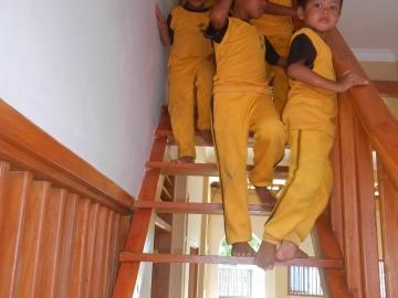 Erobern der Treppe