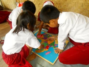 Eine 4. Grundschulklasse besucht Futura Indonesia