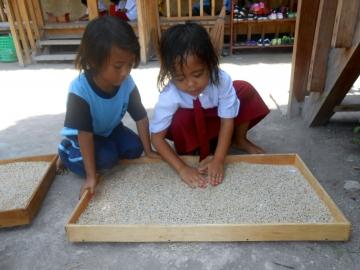Schreiben in Sand