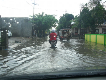 Nach starkem Regenfall